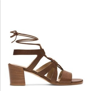 Stuart Weitzman 'Tie Girl' Leather Grecian Sandals